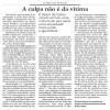 """#DiaDaMulher Leia o novo artigo do Floriano """"A culpa não é da vítima"""""""