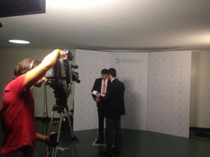 Making of da primeira entrevista para a TV Câmara