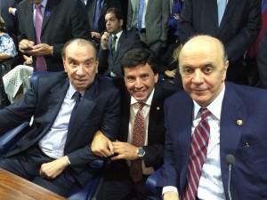 Com os senadores Aloysio Nunes e José Serra