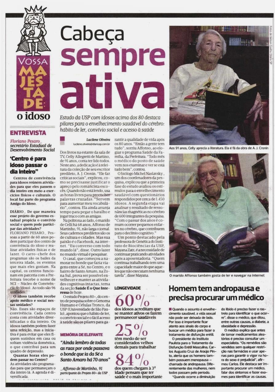 Diario de S Paulo entrevista idoso
