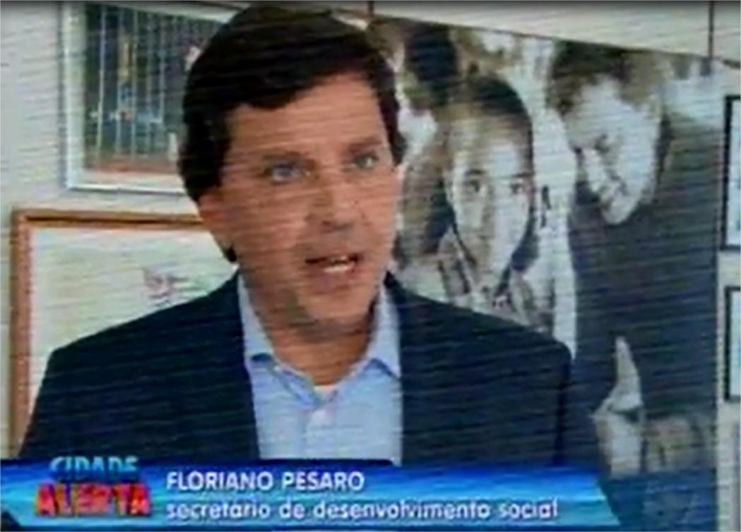 Floriano Pesaro fala sobre o Fundo de Combate à Pobreza no programa Cidade Alerta, da Rede Record