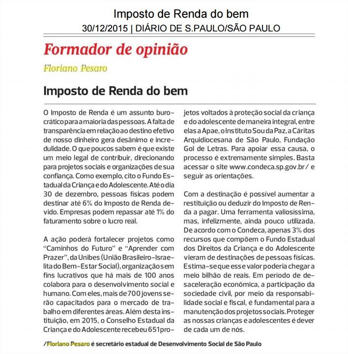 Diario de S Paulo 30122015